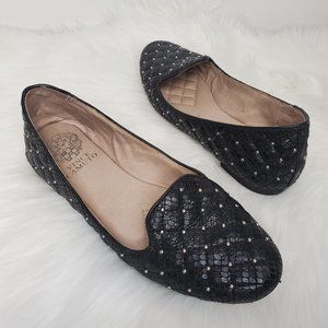 VINCE CAMUTO Lilliana 2 Quilted Stud Smoking Flats